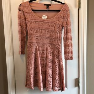 Long sleeve dress, Blush color, size S never worn
